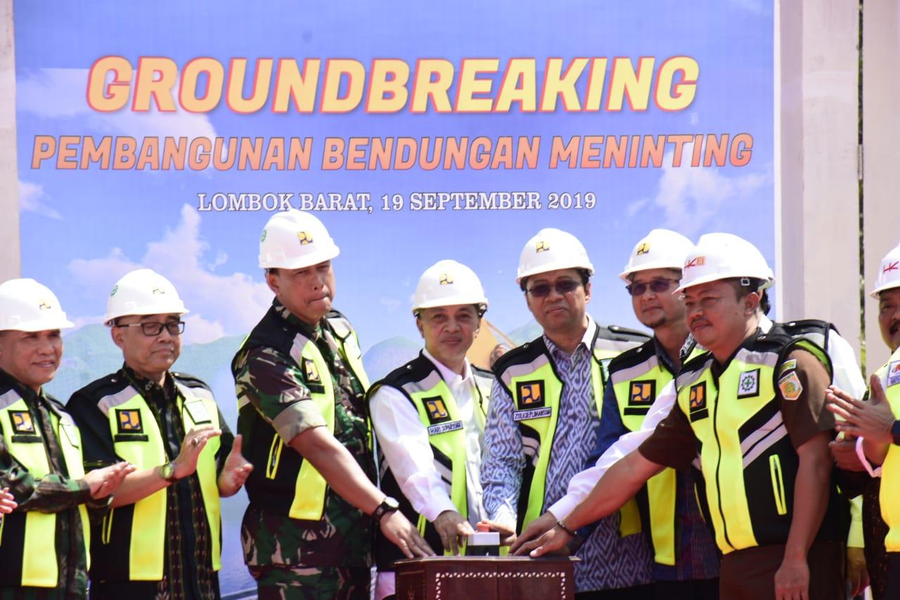 Gubernur NTB Groundbreaking Pembangunan Bendungan Meninting