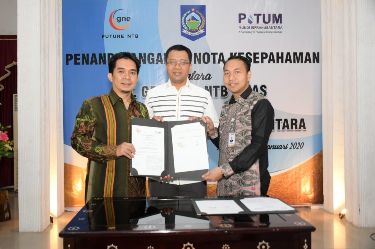 Gandeng PT. Potum Mundi Infrastruktur, PT. GNE Tandatangani MoU Penyediaan Air Bersih di NTB